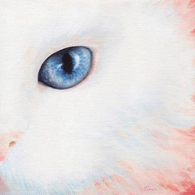 A Couple 2 White Cat Art Print