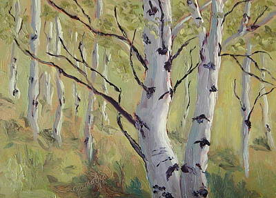 Zanobia Painting - A Couple Of Aspen by Zanobia Shalks