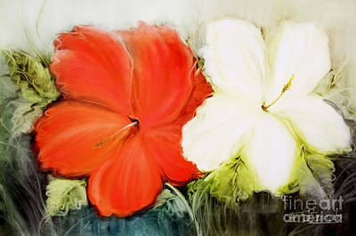 Painting - A Couple Of Flowers by Fatima Stamato