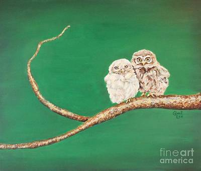 A Couple Of Owls Art Print