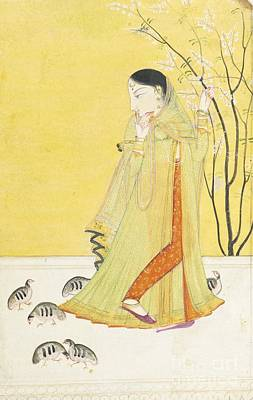 Courtesan Painting - A Courtesan Being Dressed By Her Attendants by Celestial Images