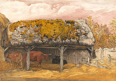 Painting - A Cow Lodge With A Mossy Roof  by Samuel Palmer