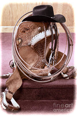 Photograph - A Cowboy's Gear by Lawrence Burry