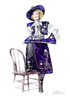 A Cowgirl Is A Cowgirl Is A Cowgirl Print by Shirley Morris