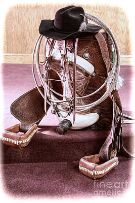Photograph - A Cowgirl's Gear by Lawrence Burry
