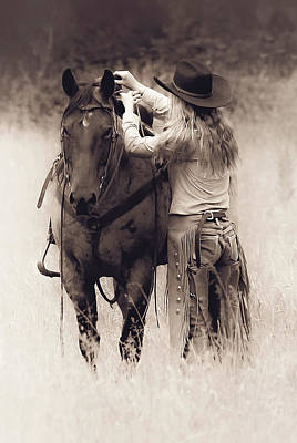 Photograph - A Cowgirls Love by Athena Mckinzie