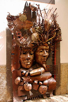 Photograph - A Creative Metalworks Door by Laurel Talabere