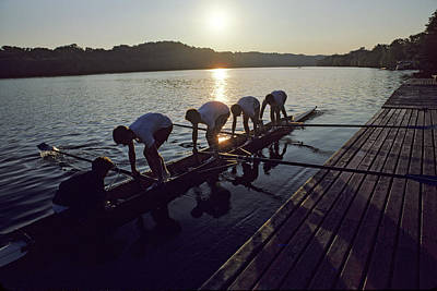 Photograph - A Crew Team Prepares For Morning by Kenneth Garrett
