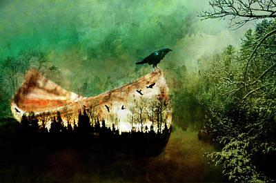 Painting - A Crow Wiinter by Christina VanGinkel