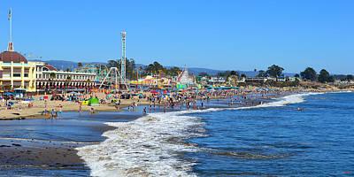 Photograph - A Crowded Beach In Santa Cruz by Glenn McCarthy Art and Photography