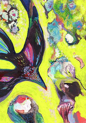 A Crows Dream - Ss18dw019 Art Print by Satomi Sugimoto