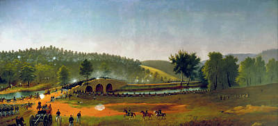 Painting - A Crucial Delay - Antietam by James Hope
