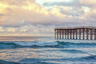 Photograph - A Crystal Pier Winter by Joseph S Giacalone