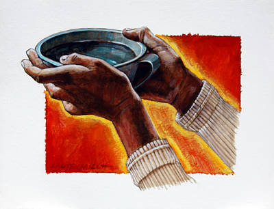 A Cup Of Water Original by John Lautermilch