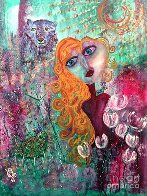 Painting - A Curious Tale by Julie Engelhardt