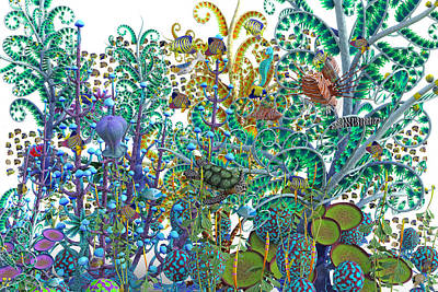 Fantasy Digital Art - A Curious World by Betsy Knapp