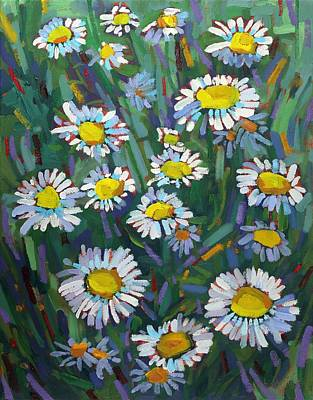 Tom Thomson Painting - A Daisy A Day by Phil Chadwick