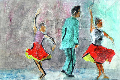 A Dance For Three Art Print by Donna Crosby