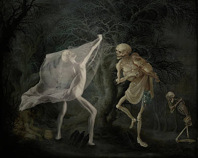 Creepy Mixed Media - A Dance In The Woods by Terry Fleckney