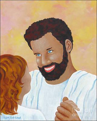 Wall Art - Painting - A Dance With Jesus by Lynn Zuk-Lloyd