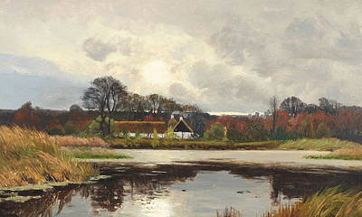 Painting - A Danish Autumn Landscape by Thorvald Niss