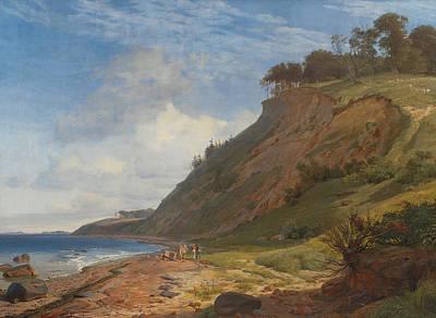 Fjord Painting - A Danish Coast by Johan Thomas Lundbye