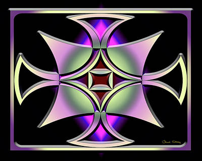 Digital Art - A Dark Splash Of Color 41 by Chuck Staley