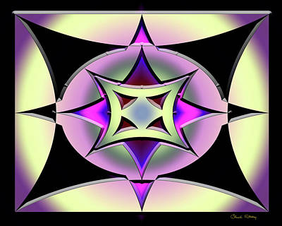 Digital Art - A Dark Splash Of Color 42 by Chuck Staley