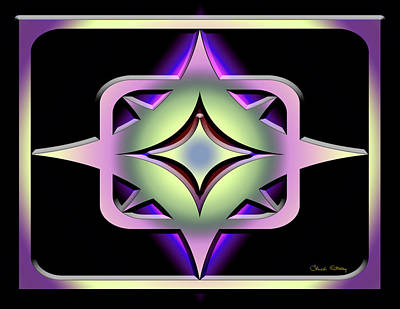 Digital Art - A Dark Splash Of Color 43 by Chuck Staley