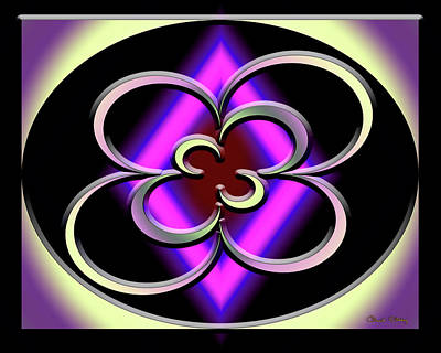 Digital Art - A Dark Splash Of Color 44 by Chuck Staley