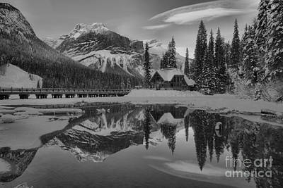 Photograph - A Dash Of Sunset Color Black And White by Adam Jewell