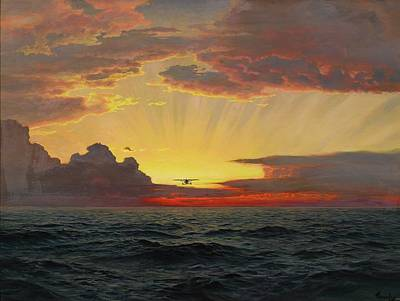 Sunset Painting - A Dawn Flight by Frederick Judd Waugh