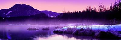 A Dawn In Violet Print by Alexander Vershinin