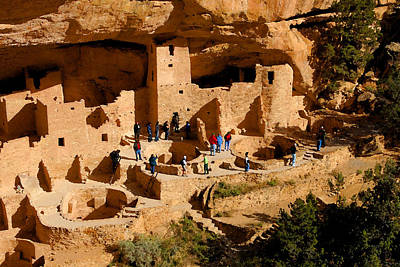 World Heritage Site Painting - A Day At Mesa Verde by David Lee Thompson