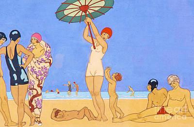 A Day At The Beach, 1923 Art Print