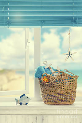 Hanging Basket Photograph - A Day At The Beach by Amanda Elwell