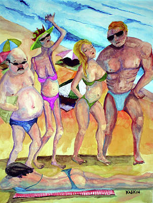 Painting - A Day At The Beach by Bradley Kaskiin