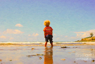 Painting - A Day At The Beach by Chris Armytage