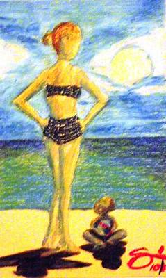 Animal Watercolors Juan Bosco - A day at the beach by Edward Smith