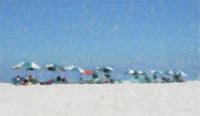 Digital Art - A Day At The Beach by Ellen Barron O'Reilly