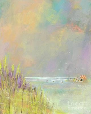 A Day At The Beach Art Print by Frances Marino