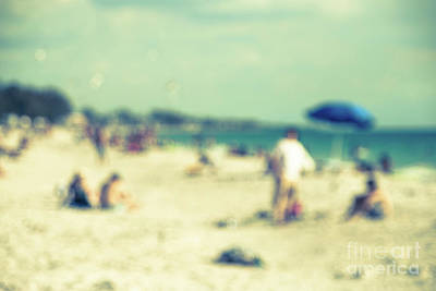 Print featuring the photograph a day at the beach I by Hannes Cmarits