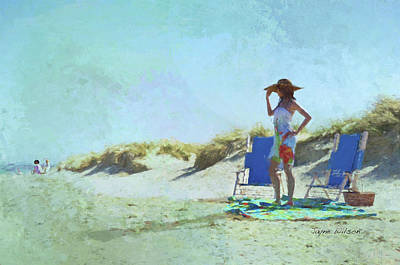 Digital Art - A Day At The Beach by Jayne Wilson
