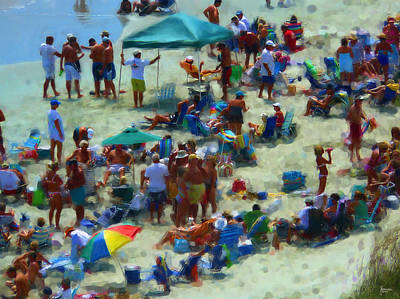 A Day At The Beach Print by Jeff Breiman