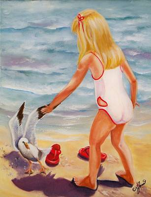 Painting - A Day At The Beach by Joni McPherson
