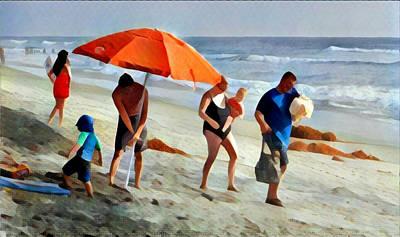 Digital Art - A Day At The Beach by Karyn Robinson