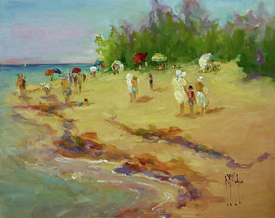 Wall Art - Painting - A Day At The Beach by Kathryn McMahon