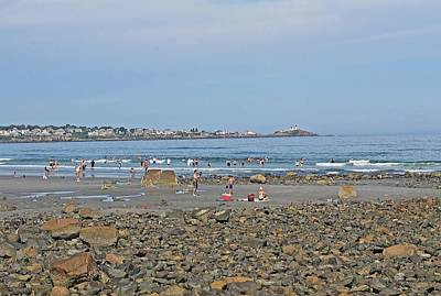 Photograph - A Day At The Beach Long Sands Beach York Maine 2 by Michael Saunders