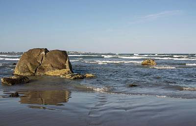 Photograph - A Day At The Beach Long Sands Beach York Maine 4 by Michael Saunders