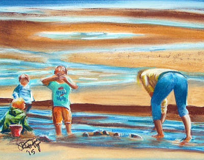 Pastel - A Day At The Beach by Michael Foltz